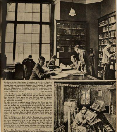 """Wochenzeitschrift """"Die Woche"""" vom 9.6.1934, Beitrag über MGH 2. MGH-Archiv K 208"""