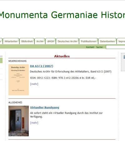 2008 geht die neue MGH-Webseite online