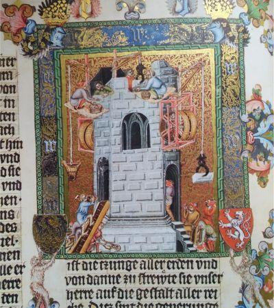 Wenzelsbibel, Turmbau von Babel. Foto: MGH/Rommel