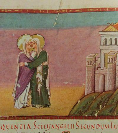 Codex Egberti, Maria und Elisabeth. Foto: MGH/Rommel