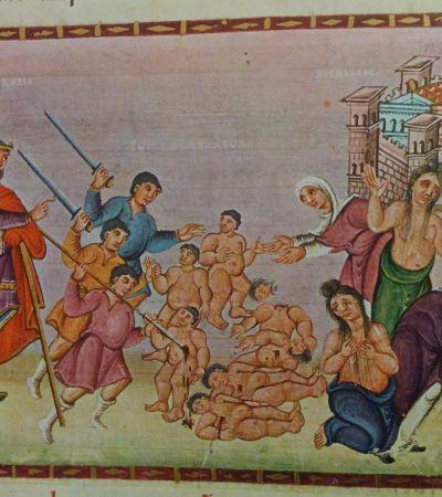 Codex Egberti, Kindermord in Bethlehem. Foto: MGH/Rommel