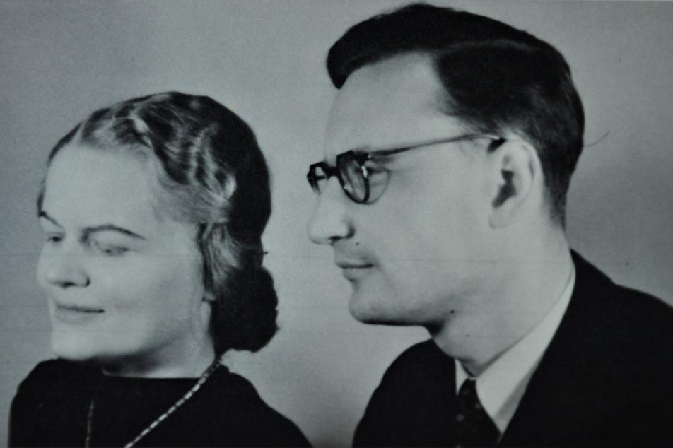 Das Ehepaar Menzel-Rogner Weihnachten 1942. Foto: aus Privatbesitz